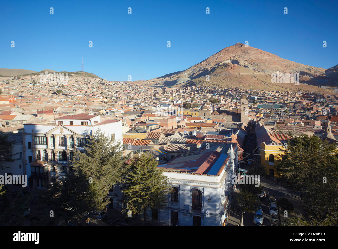 View of Potosi, UNESCO World Heritage Site, Bolivia, South America - Stock Image
