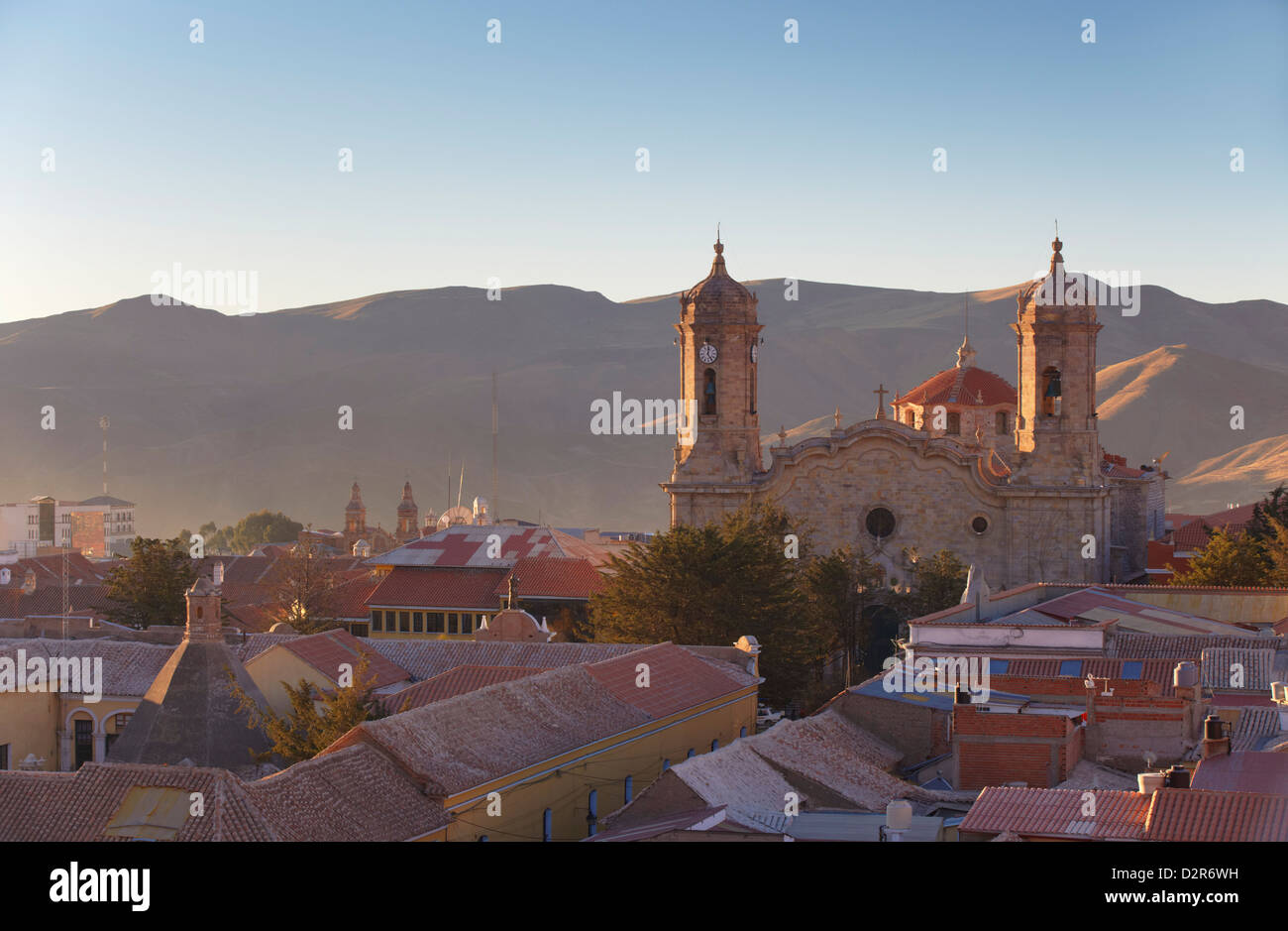 View of Cathedral, Potosi, UNESCO World Heritage Site, Bolivia, South America - Stock Image