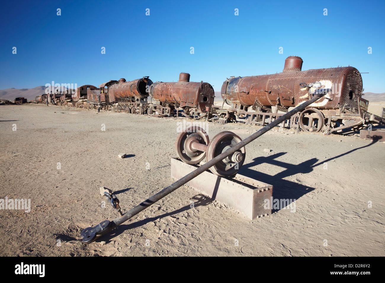 Cemeterio de Trenes (Train Cemetery), Uyuni, Potosi Department, Bolivia, South America - Stock Image