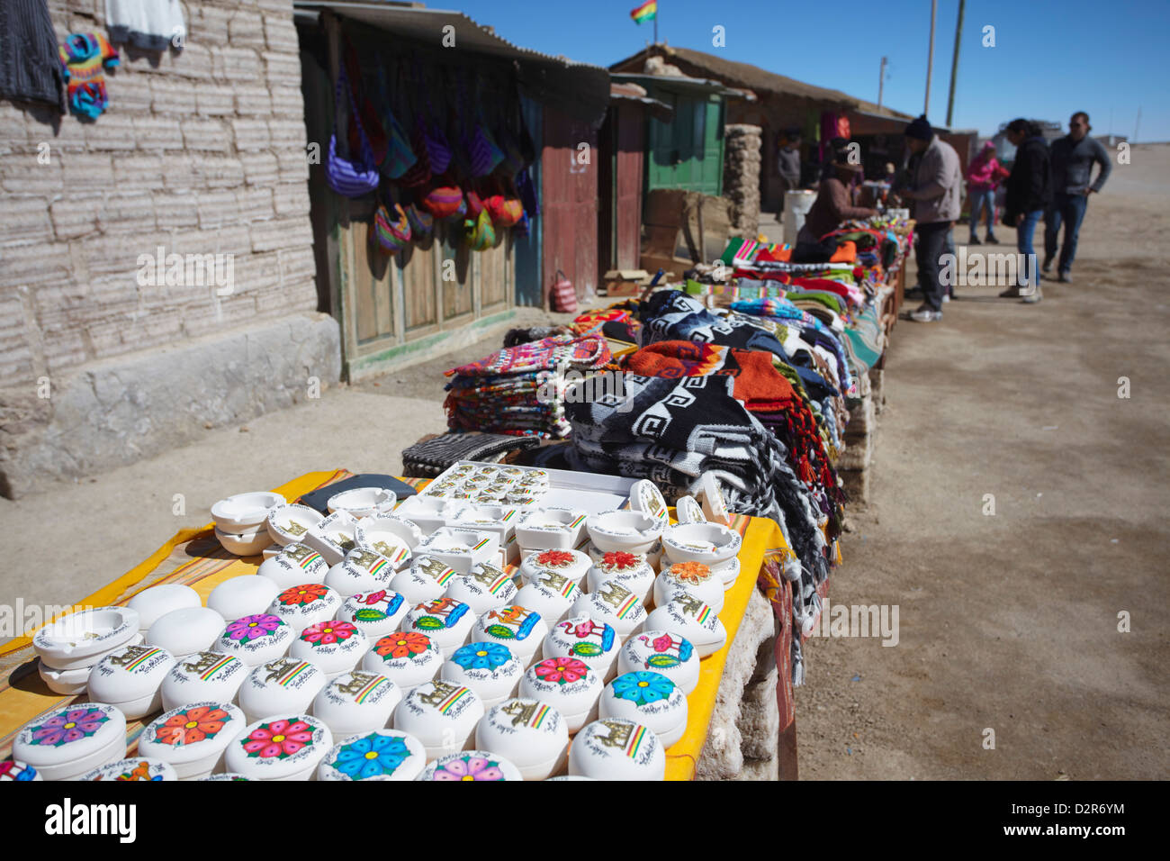 Souvenirs at market, Uyuni, Potosi Department, Bolivia, South America - Stock Image