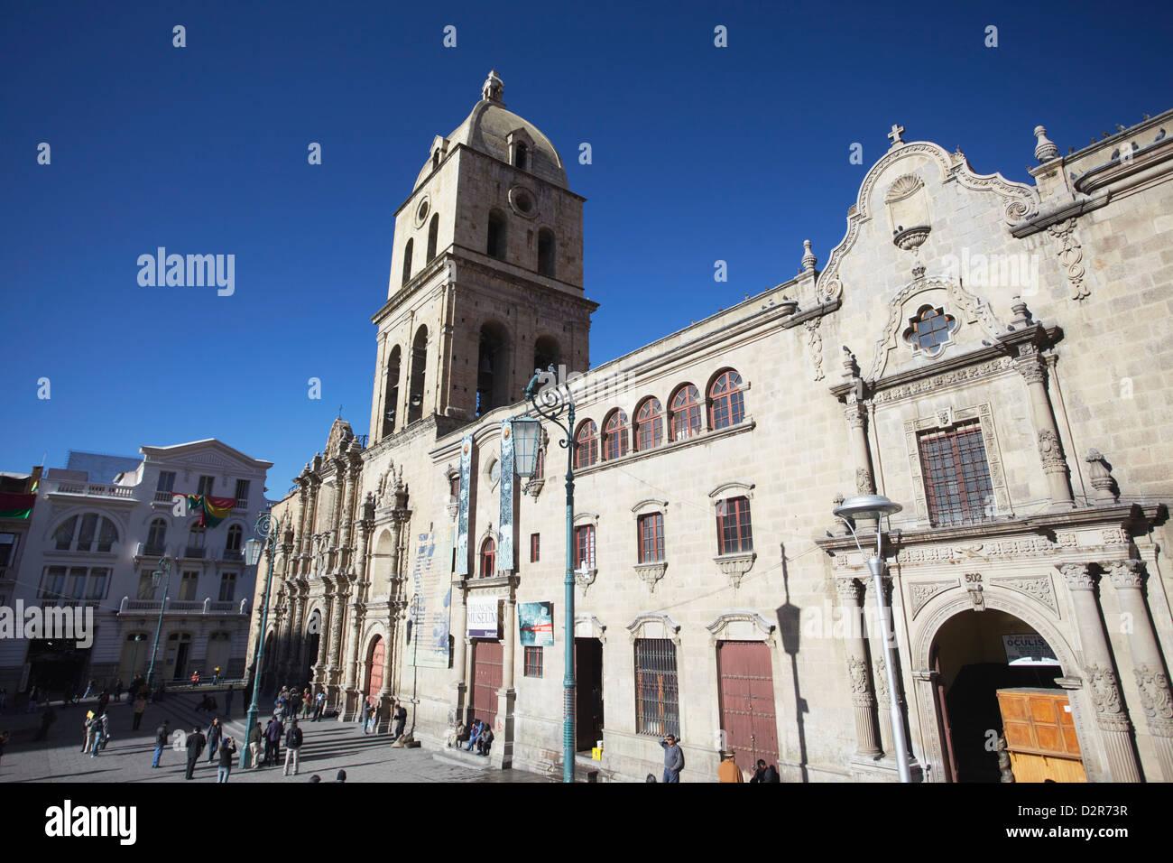 Iglesia de San Francisco in Plaza San Francisco, La Paz, Bolivia, South America - Stock Image