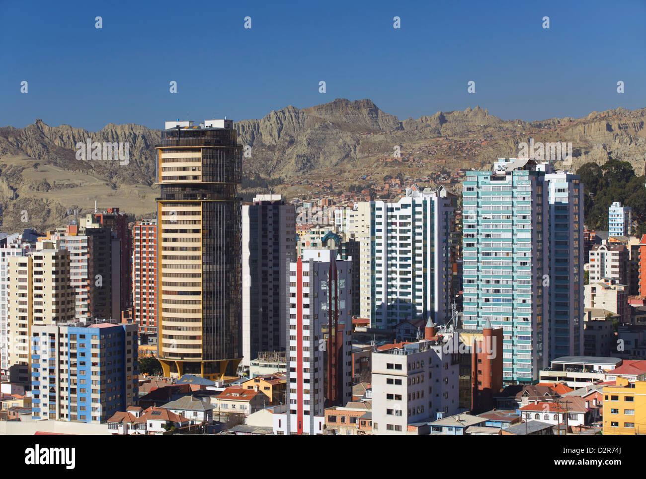 View of downtown La Paz, Bolivia, South America - Stock Image