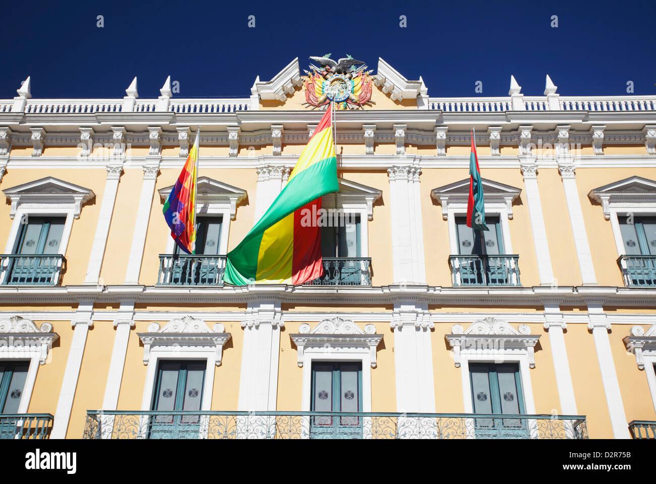 Palacio Presidencial (Presidential Palace) in Plaza Pedro Murillo, La Paz, Bolivia, South America - Stock Image