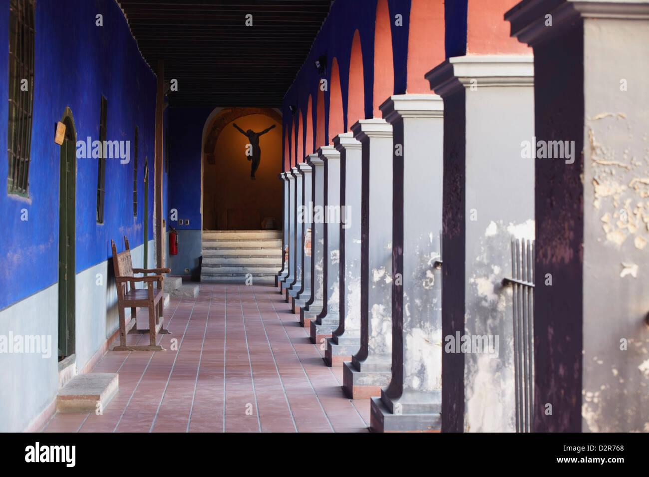 Corridor of San Francisco Museum inside San Francisco Church, La Paz, Bolivia, South America - Stock Image
