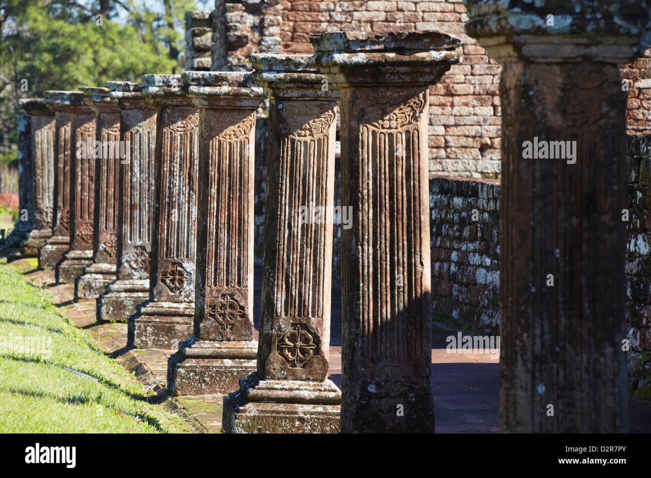 Ruins of Jesuit mission at Trinidad (La Santisima Trinidad de Parana), Parana Plateau, Paraguay - Stock Image
