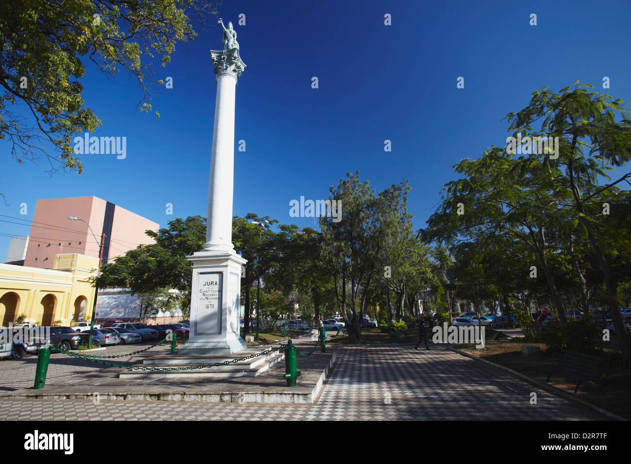 Plaza Constitution, Asuncion, Paraguay, South America - Stock Image