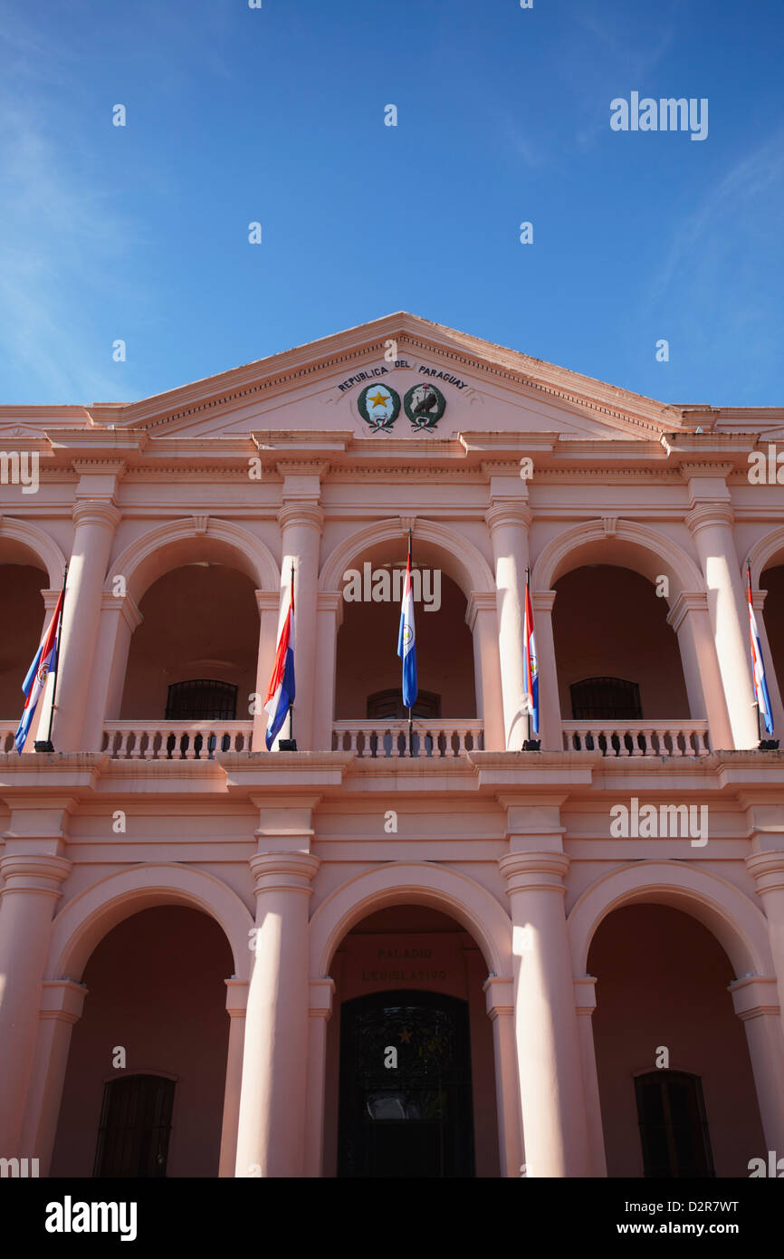 Museo del Congreso Nacional (Museum of the National Congress), formerly the Cabildo, Asuncion, Paraguay, South America - Stock Image