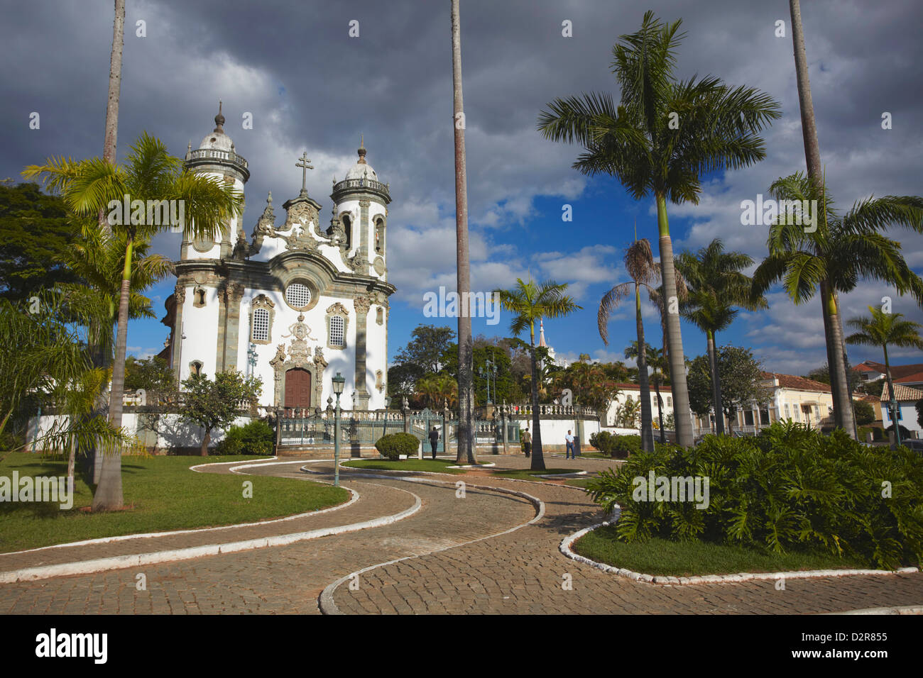 Sao Francisco de Assis (St. Francis of Assisi) Church, Sao Joao del Rei, Minas Gerais, Brazil, South America - Stock Image