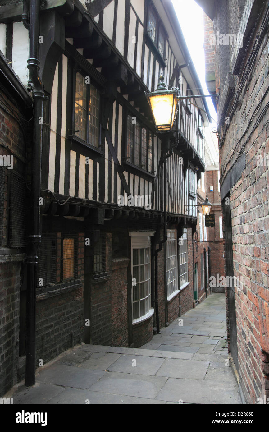 Lady Peckett's Yard, York, Yorkshire, England, United Kingdom, Europe - Stock Image