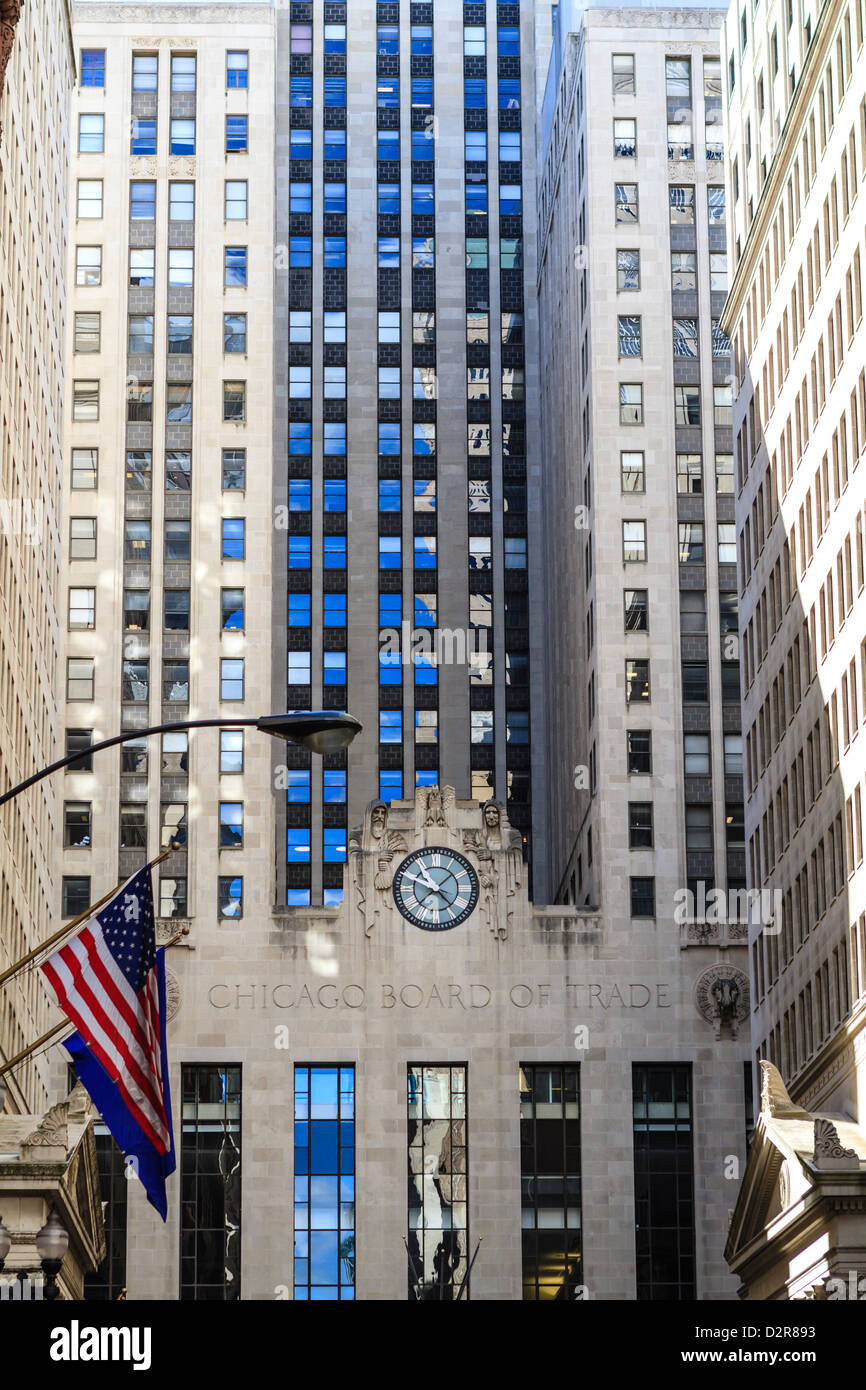 Chicago Board of Trade Building, Downtown Chicago, Illinois, United States of America, North America - Stock Image