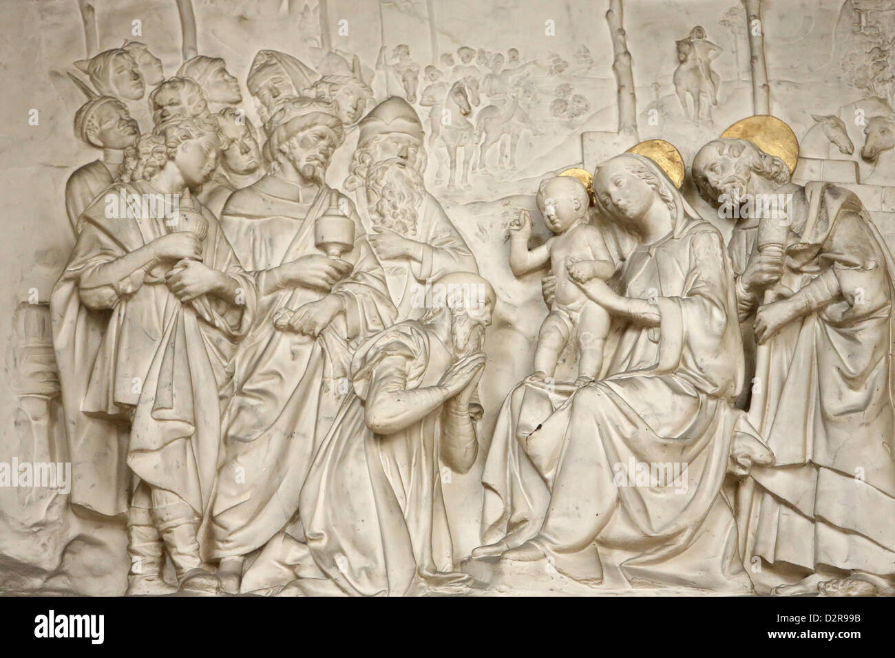 Adoration of the Magi, St. Germain l'Auxerrois church, Paris, France, Europe - Stock Image