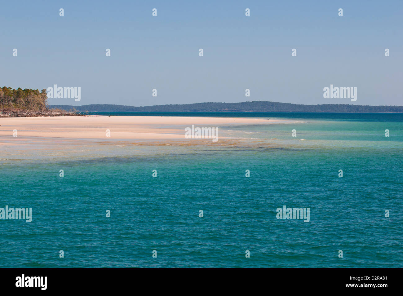 Lonely beach at Fraser Island, UNESCO World Heritage Site, Queensland, Australia, Pacific - Stock Image
