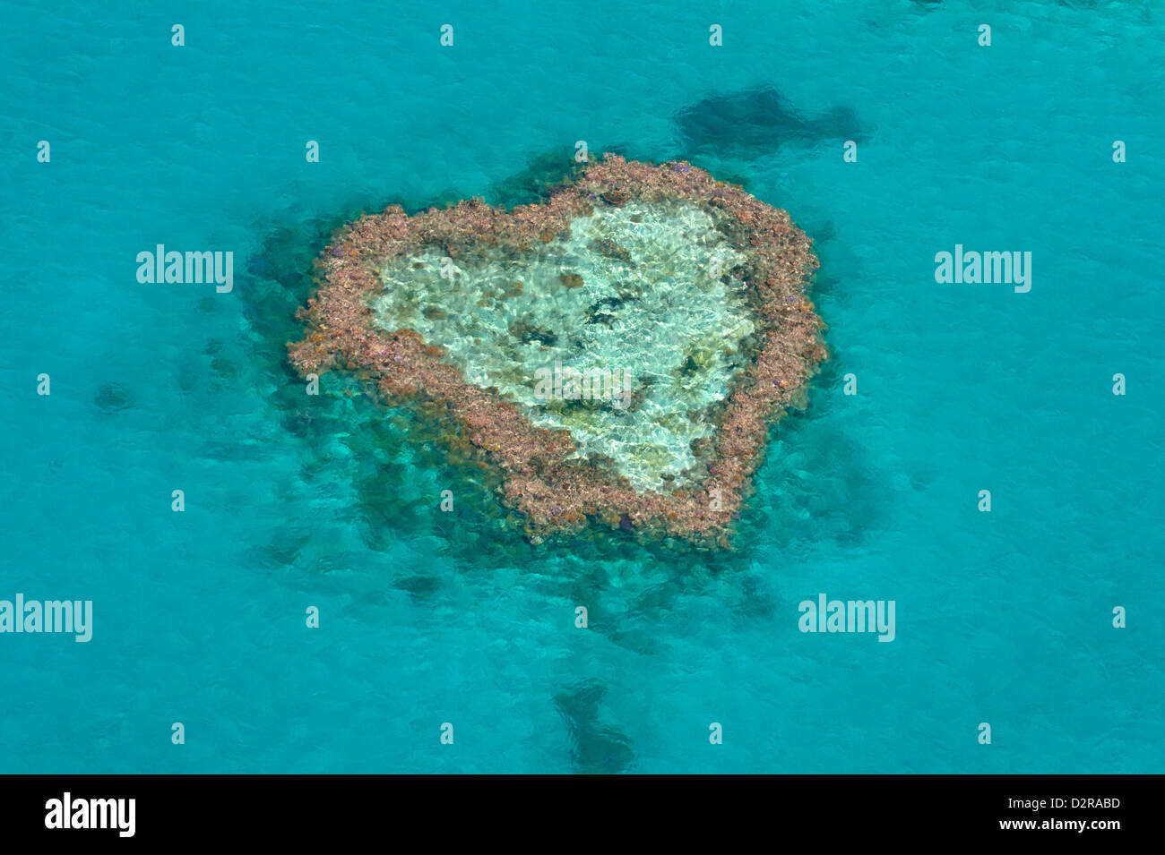 Aerial of the Whit Sunday Islands, Queensland, Australia, Pacific - Stock Image