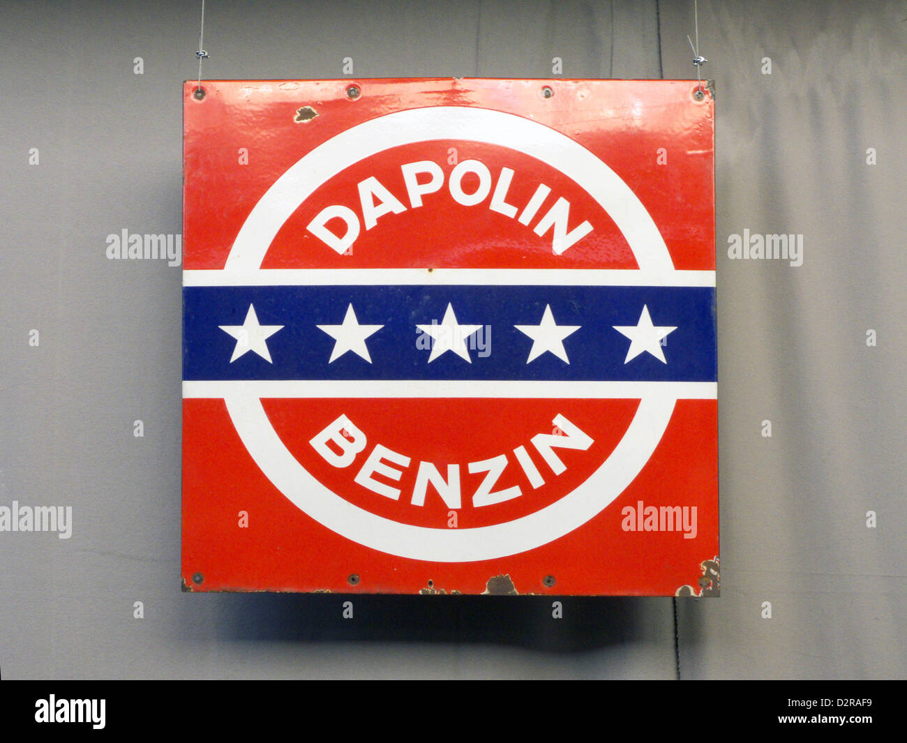 Germany Nuremberg Industry Museum nostalgic Dapolin Benzin Stock Photo
