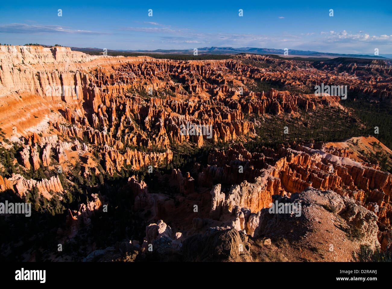 Outlook for the pinnacles in the beautiful rock formations of Bryce Canyon National Park, Utah, USA - Stock Image