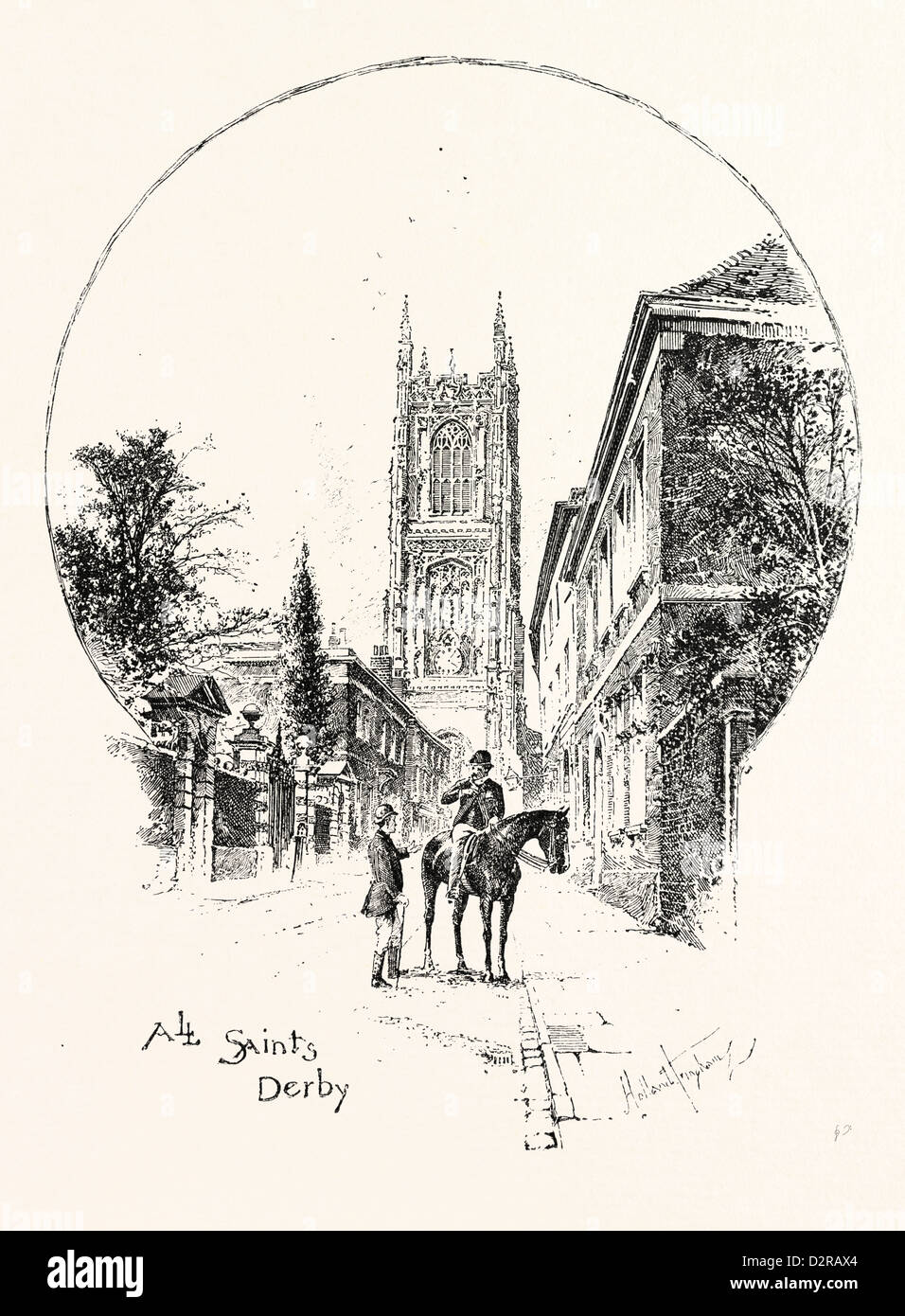 DERBY, ALL SAINTS', THE TOWER - Stock Image