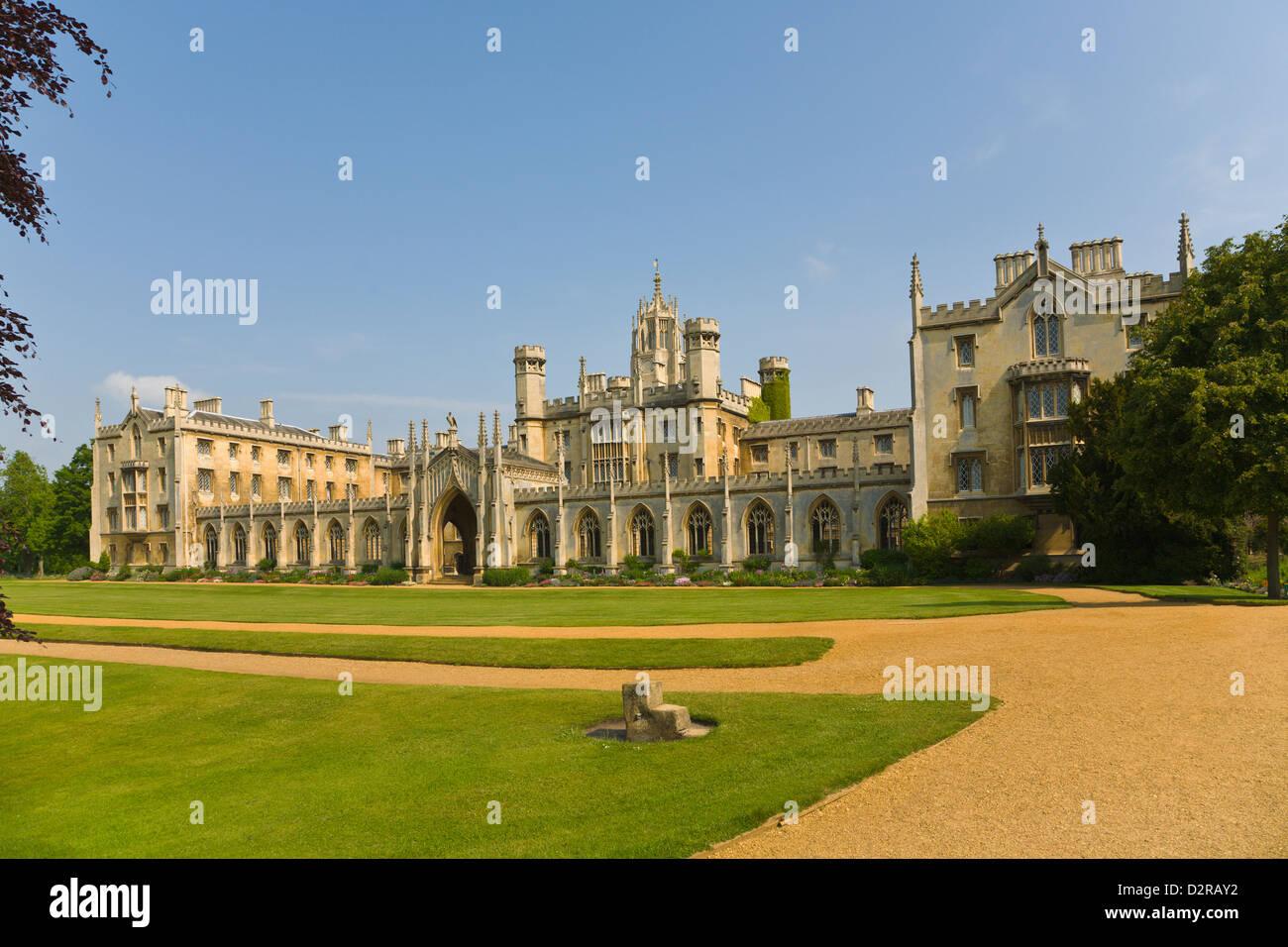 St Johns College Cambridge England - Stock Image
