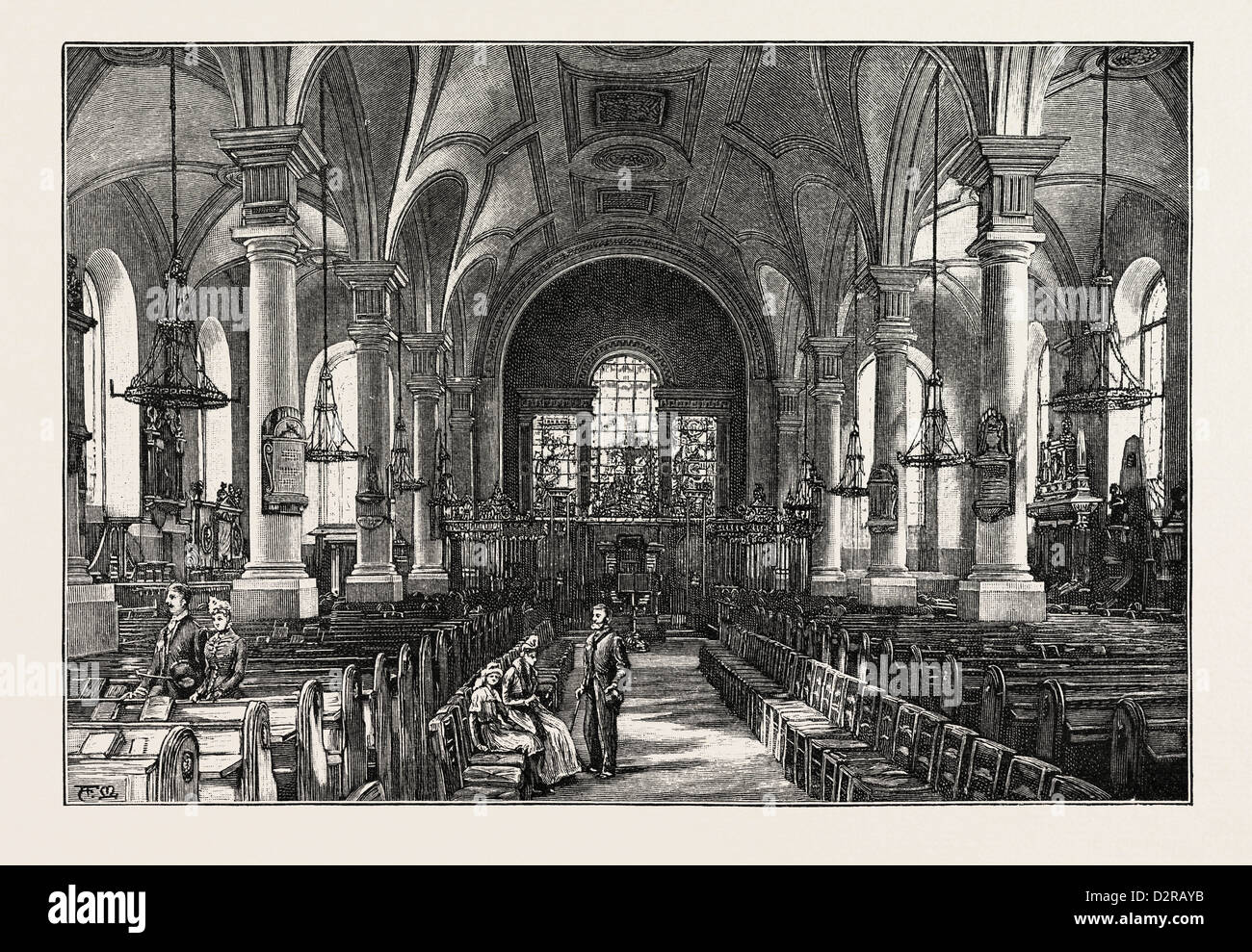 DERBY: ALL SAINTS' CHURCH, THE INTERIOR - Stock Image