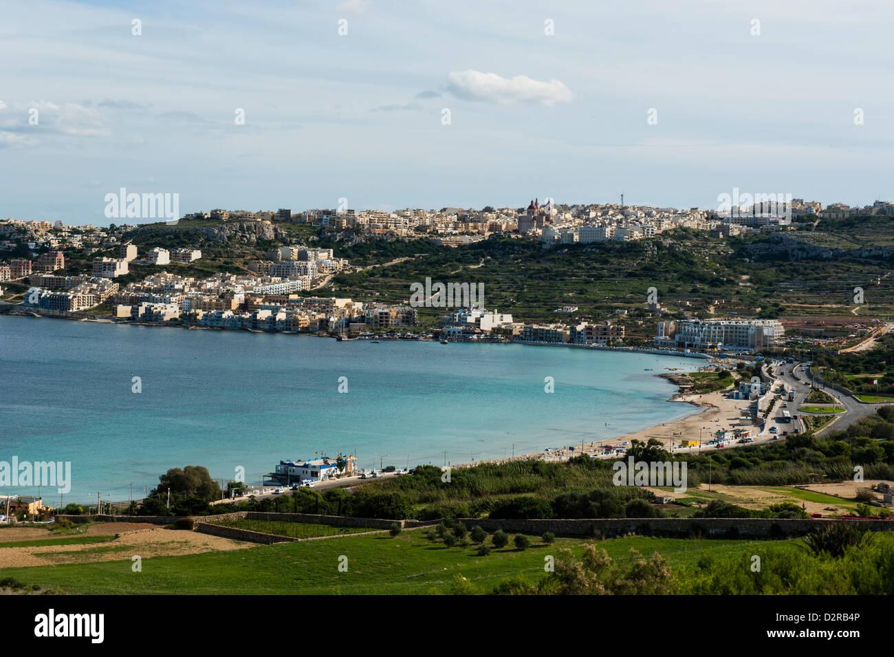 Bay of Il-Mellieha, Malta, Mediterranean, Europe - Stock Image