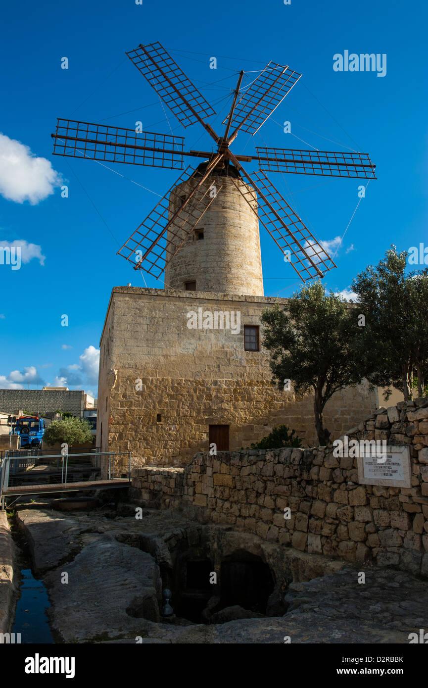Xarolla Windmill, Zurrieq, Malta, Europe - Stock Image