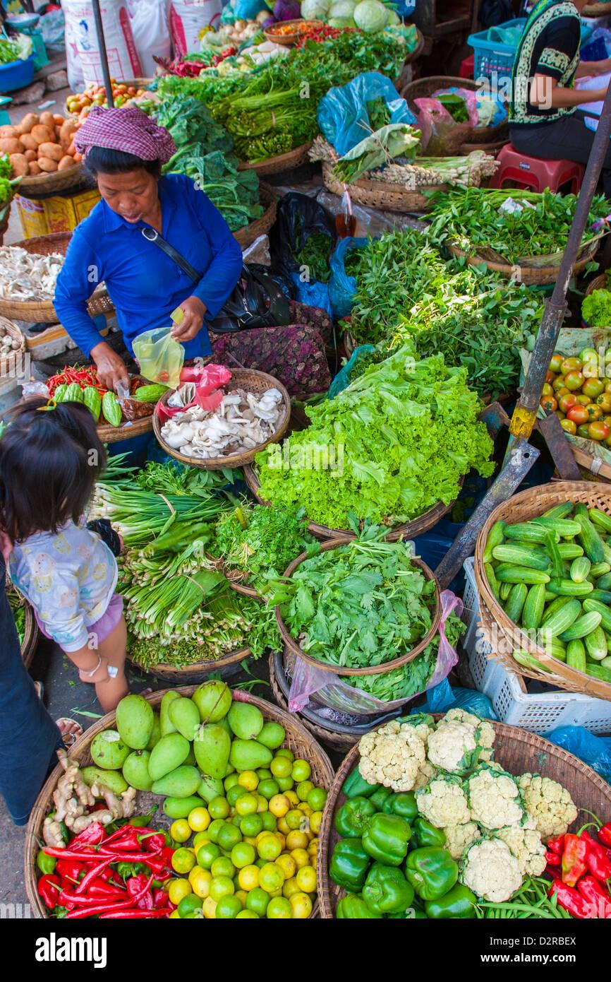 Central Market, Phnom Penh, Cambodia, Indochina, Southeast Asia, Asia - Stock Image