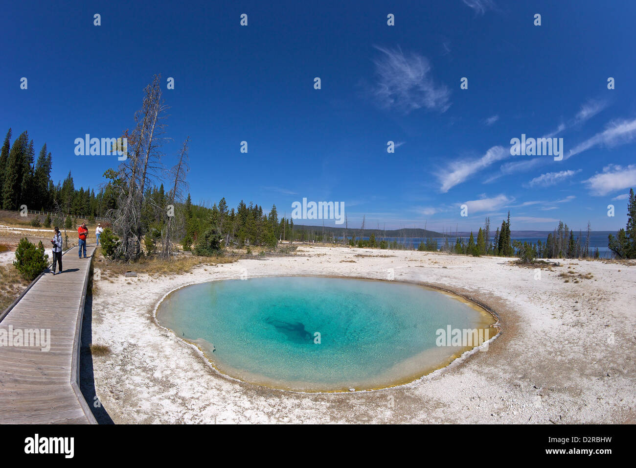 Blue Funnel spring, West Thumb Geyser Basin, Yellowstone National Park, Wyoming, USA - Stock Image
