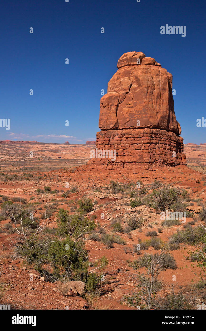 Rock formation, Courthouse Towers area, Arches National Park, Utah, United States of America, North America - Stock Image