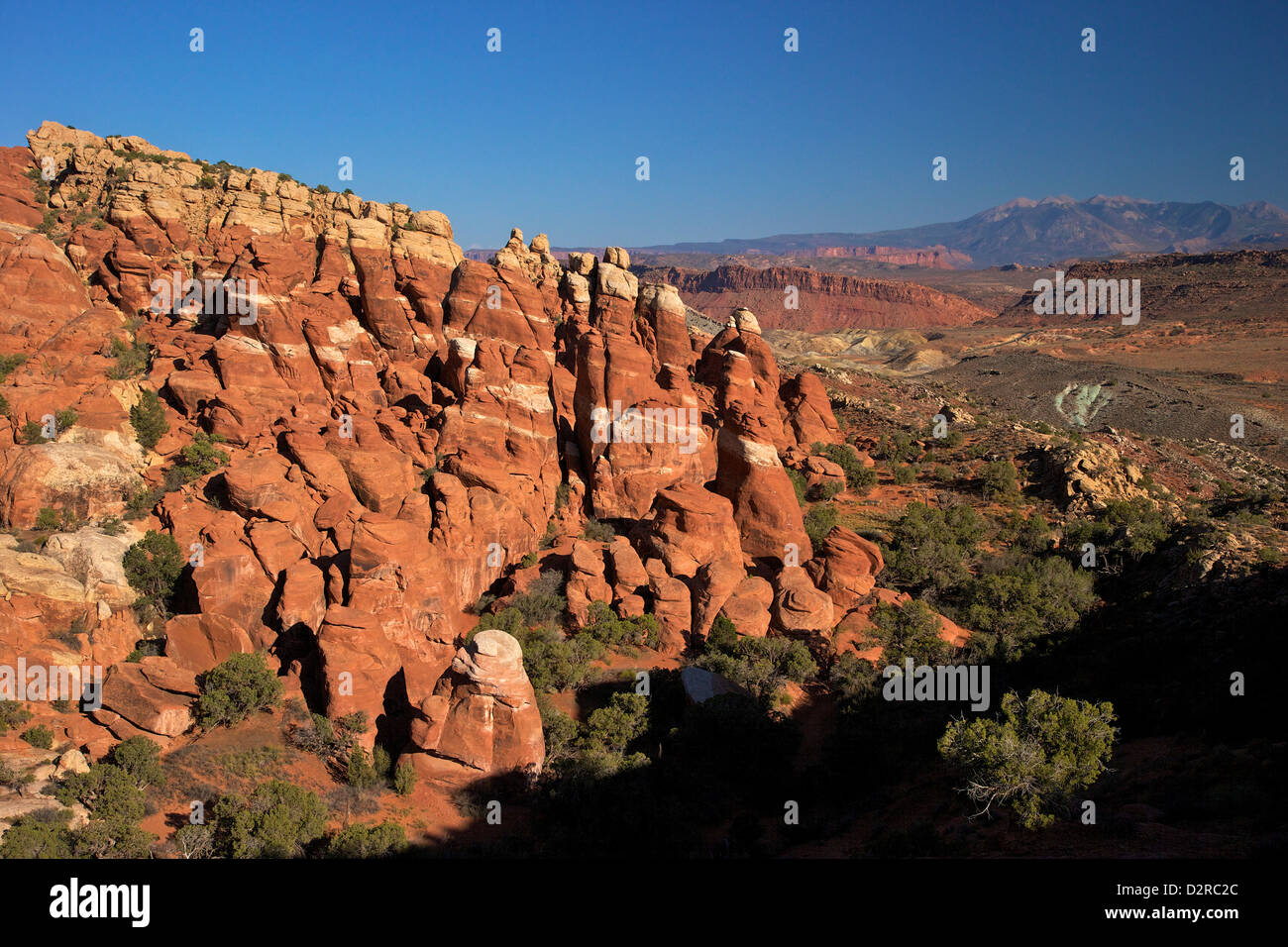 Fiery Furnace, Arches National Park, Moab, Utah, United States of America, North America - Stock Image