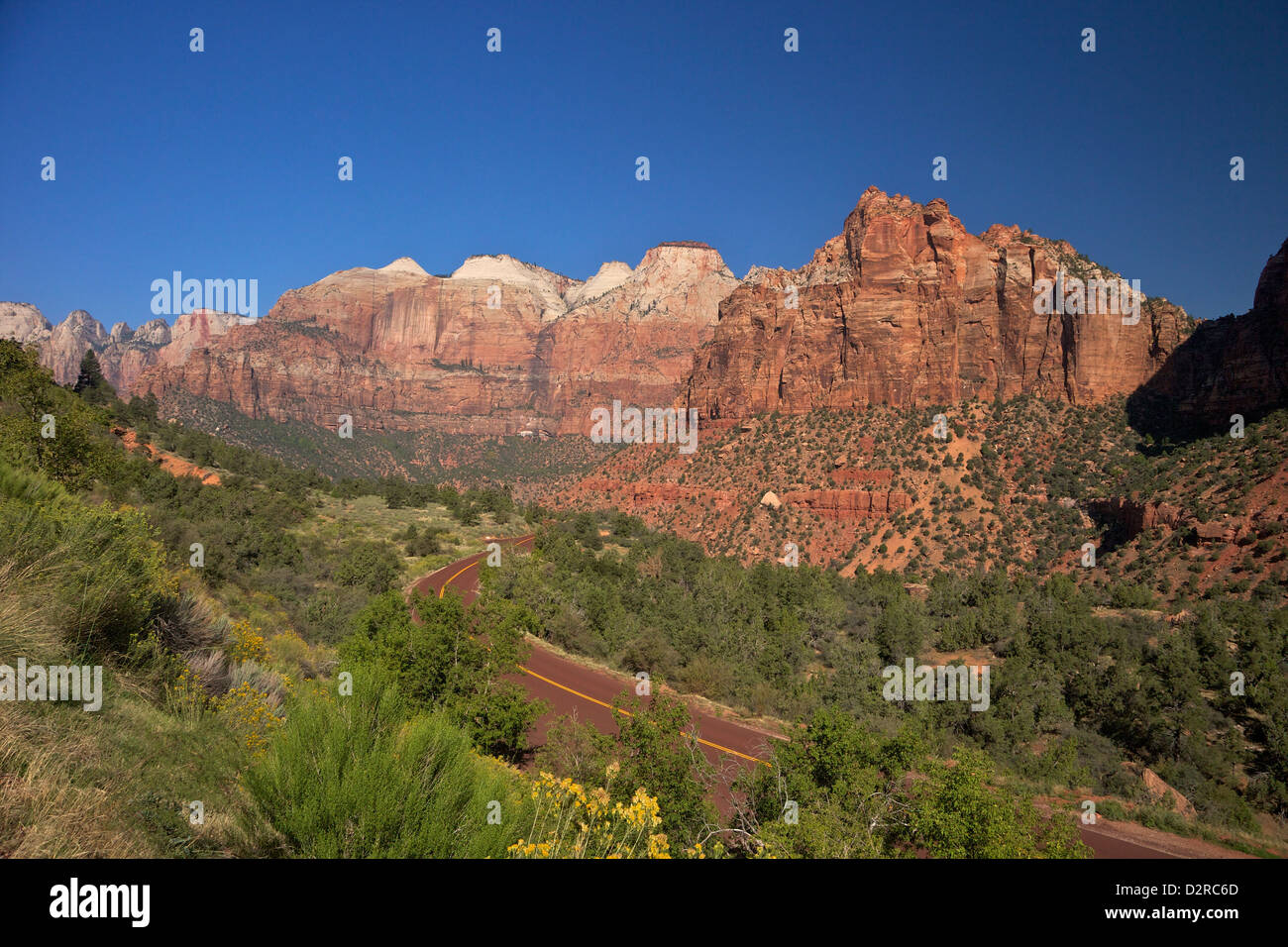 Zion-Mount Carmel Highway, Zion National Park, Utah, United States of America, North America - Stock Image