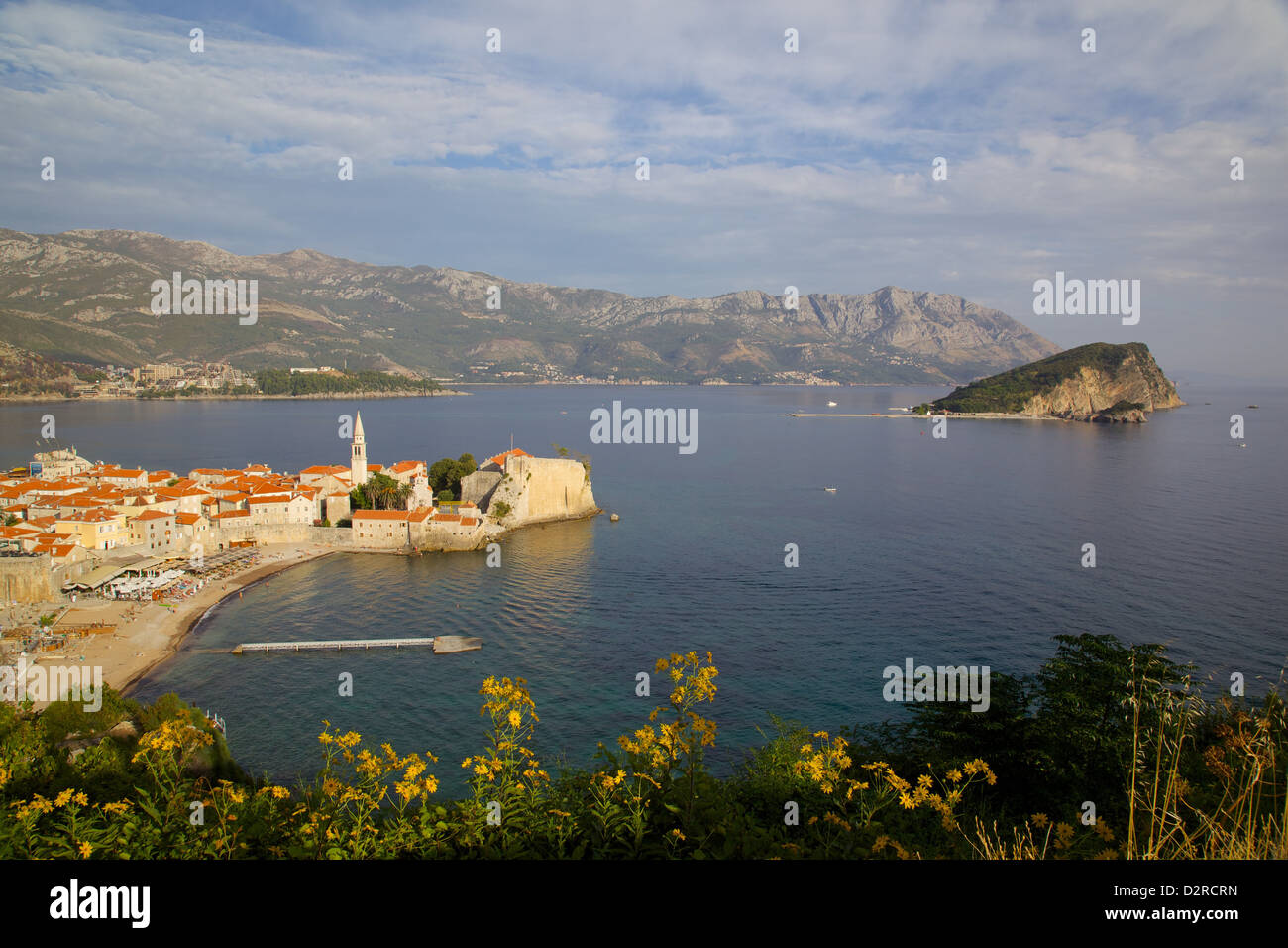 View of Old Town, Budva, Montenegro, Europe - Stock Image