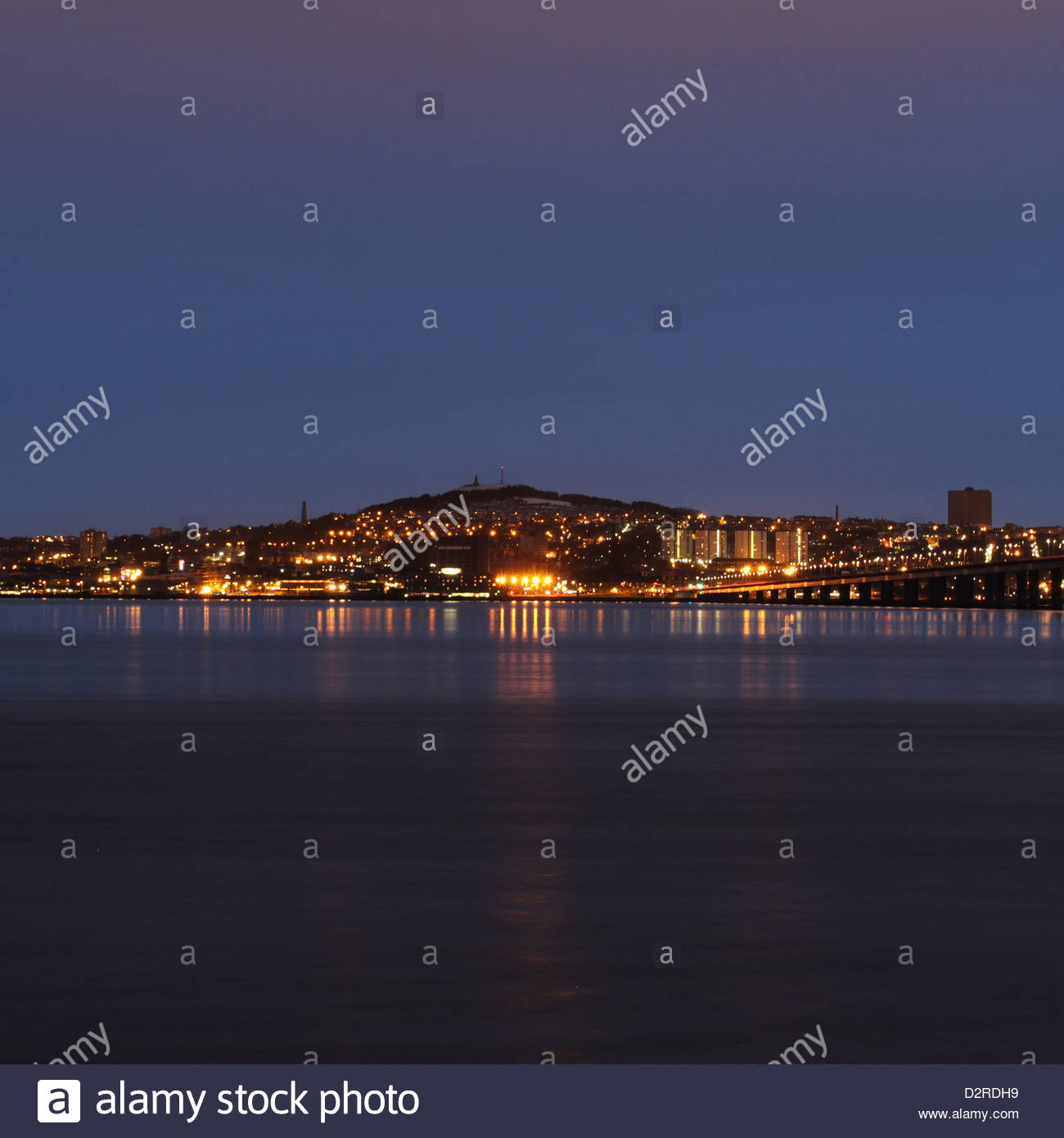 Dundee night Scotland  January 2013 - Stock Image