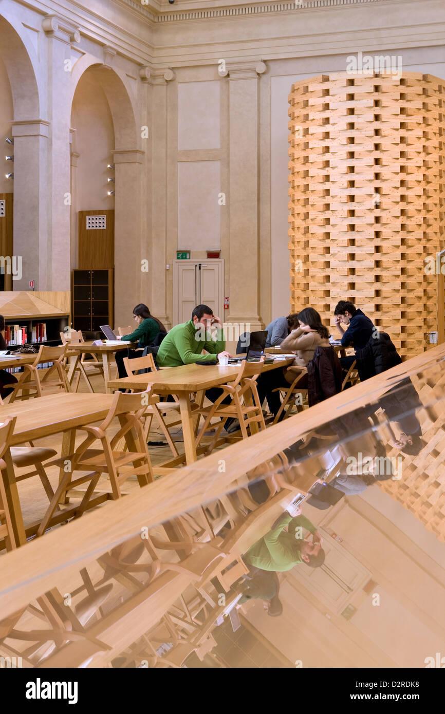 library San Giorgio Poggiale, Bologna, Genus - Stock Image