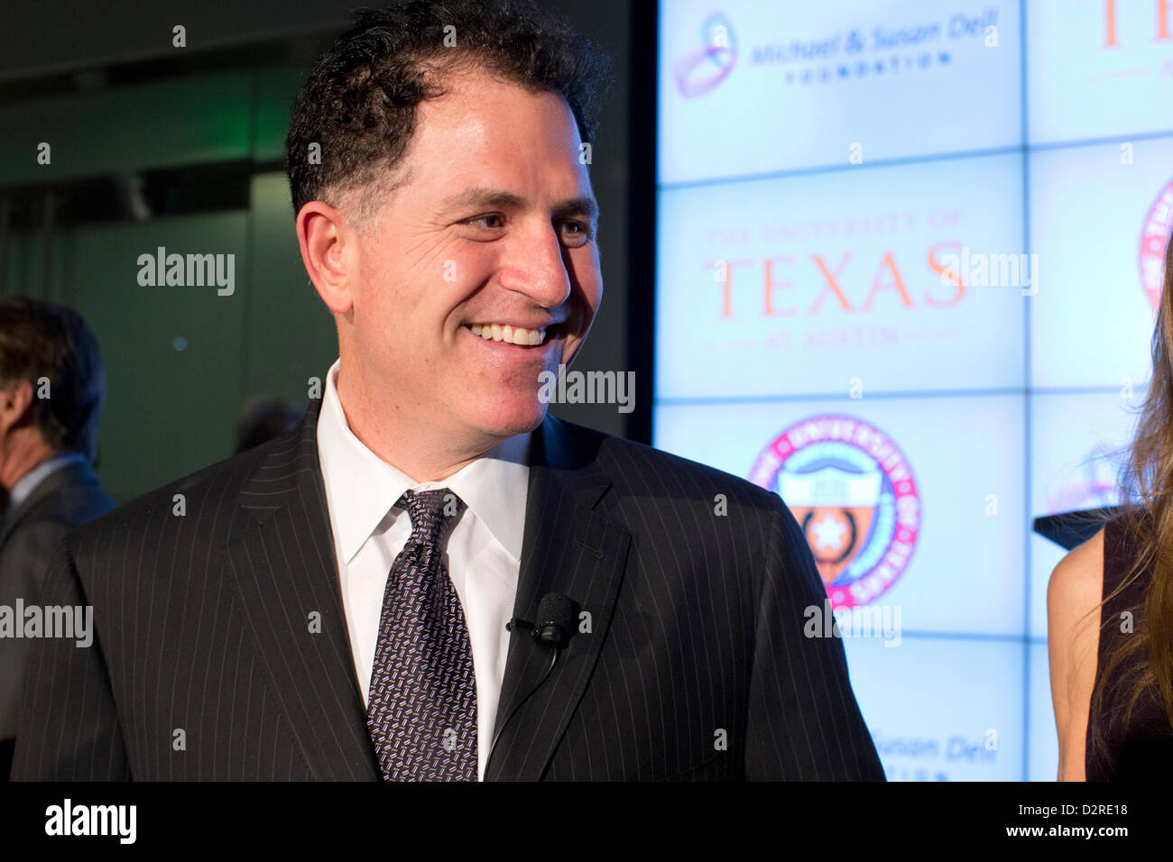 Dell Computer CEO Michael Dell announces donation of $50 million to help create Dell Medical School in Austin TX - Stock Image