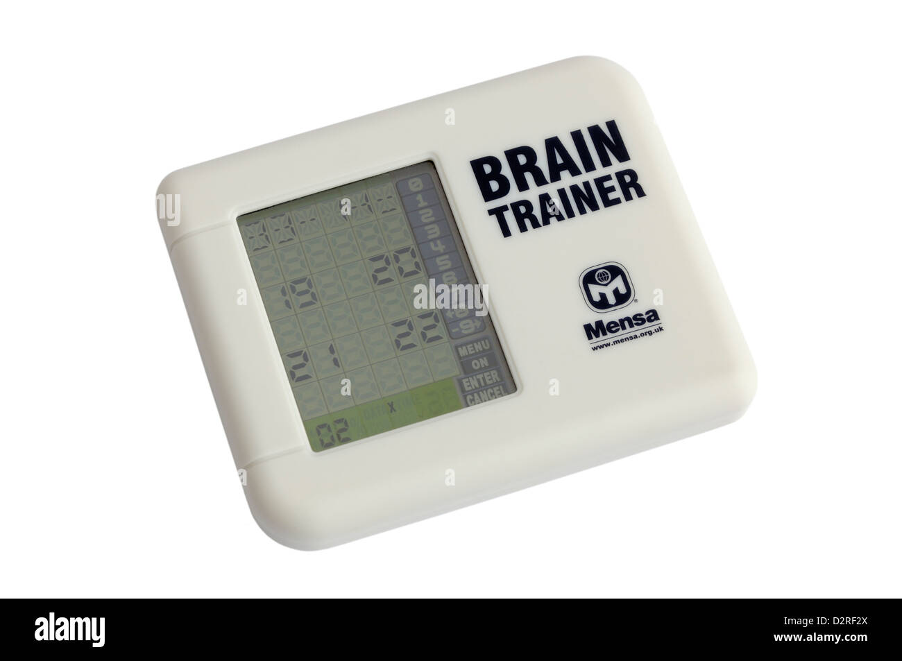 A Mensa electronic brain trainer - Stock Image