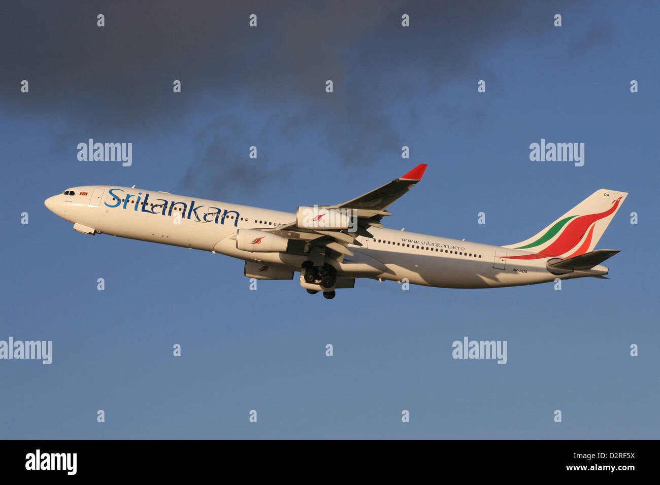 SRILANKAN AIRLINES A340 AIRBUS - Stock Image