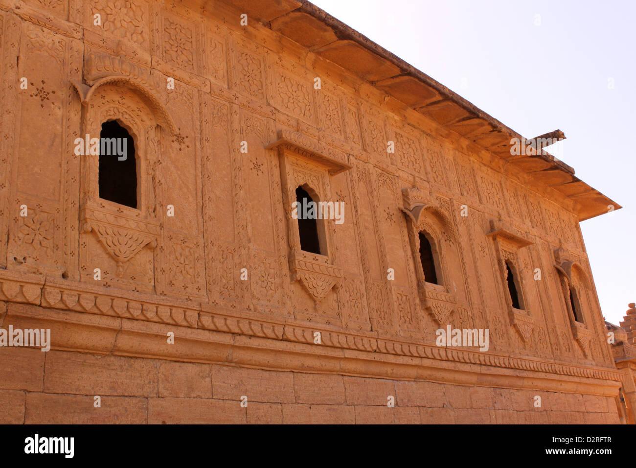 Royal temple at Bada Bagh Jaisalmer Rajasthan India - Stock Image