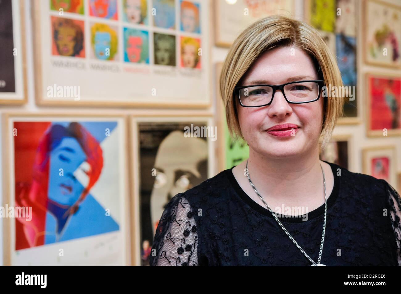 31st January 2013, Belfast, Northern Ireland.  Gillian Mitchell, Director of Programmes at the Metropolitan Arts - Stock Image