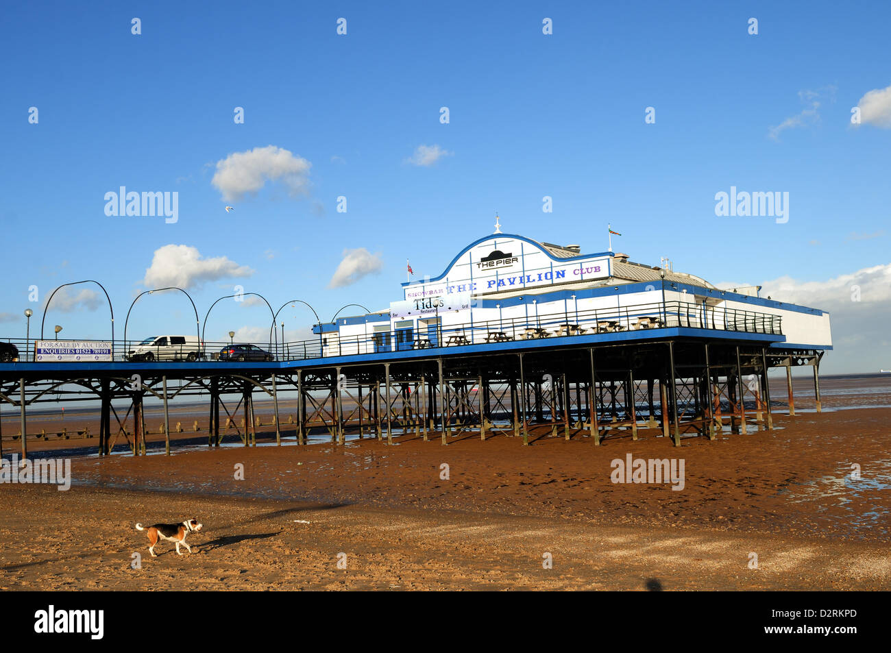 31st January 2013. Cleethorpes Pier, North East Lincolnshire, UK. The 335ft (102m) Pier opened in 1873 and is due Stock Photo