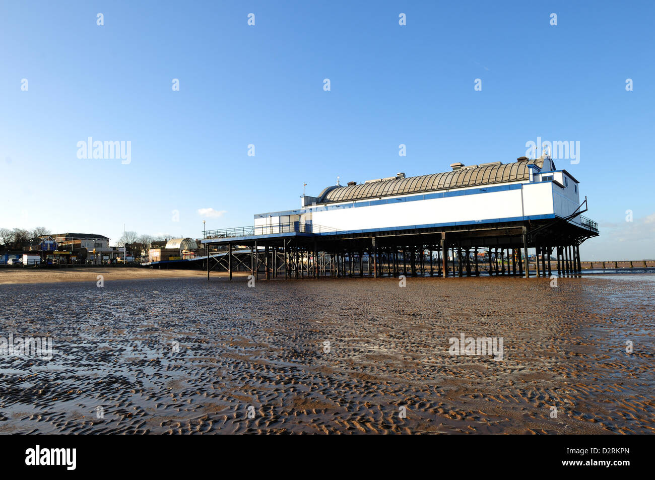 31st January 2013. Cleethorpes Pier, North East Lincolnshire, UK. The 335ft (102m) Pier opened in 1873 and is due - Stock Image