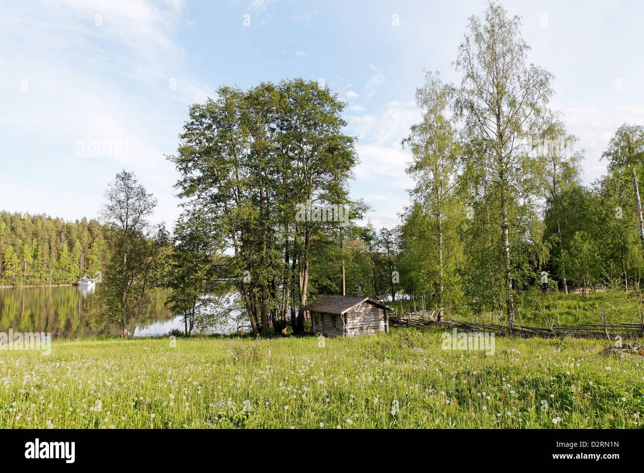 Linnansaari Croft on Linnansaari Island, Linnansaari National Park, Finland - Stock Image