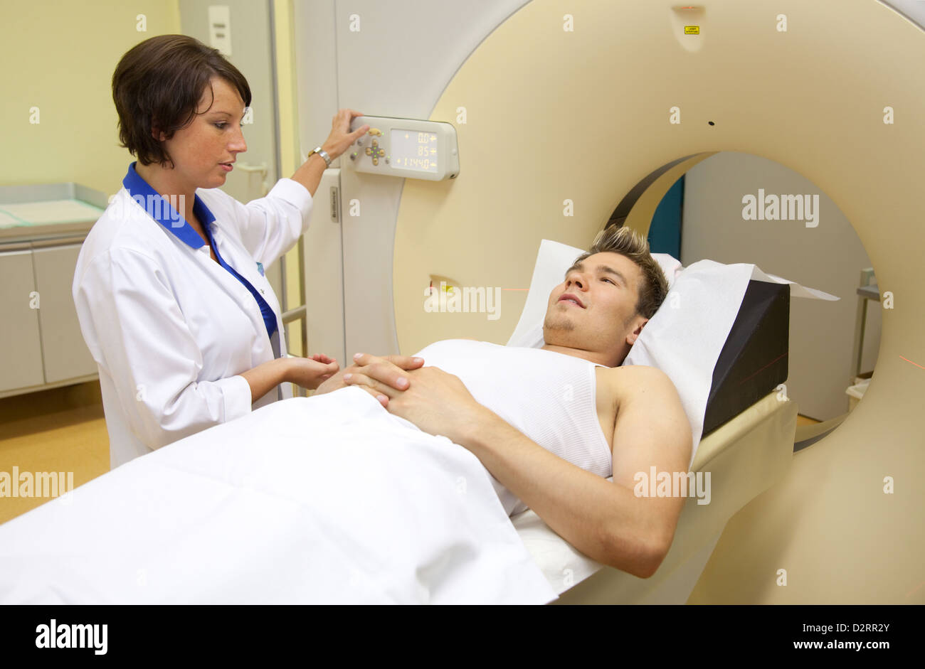Essen, Germany, computed in hospital - Stock Image