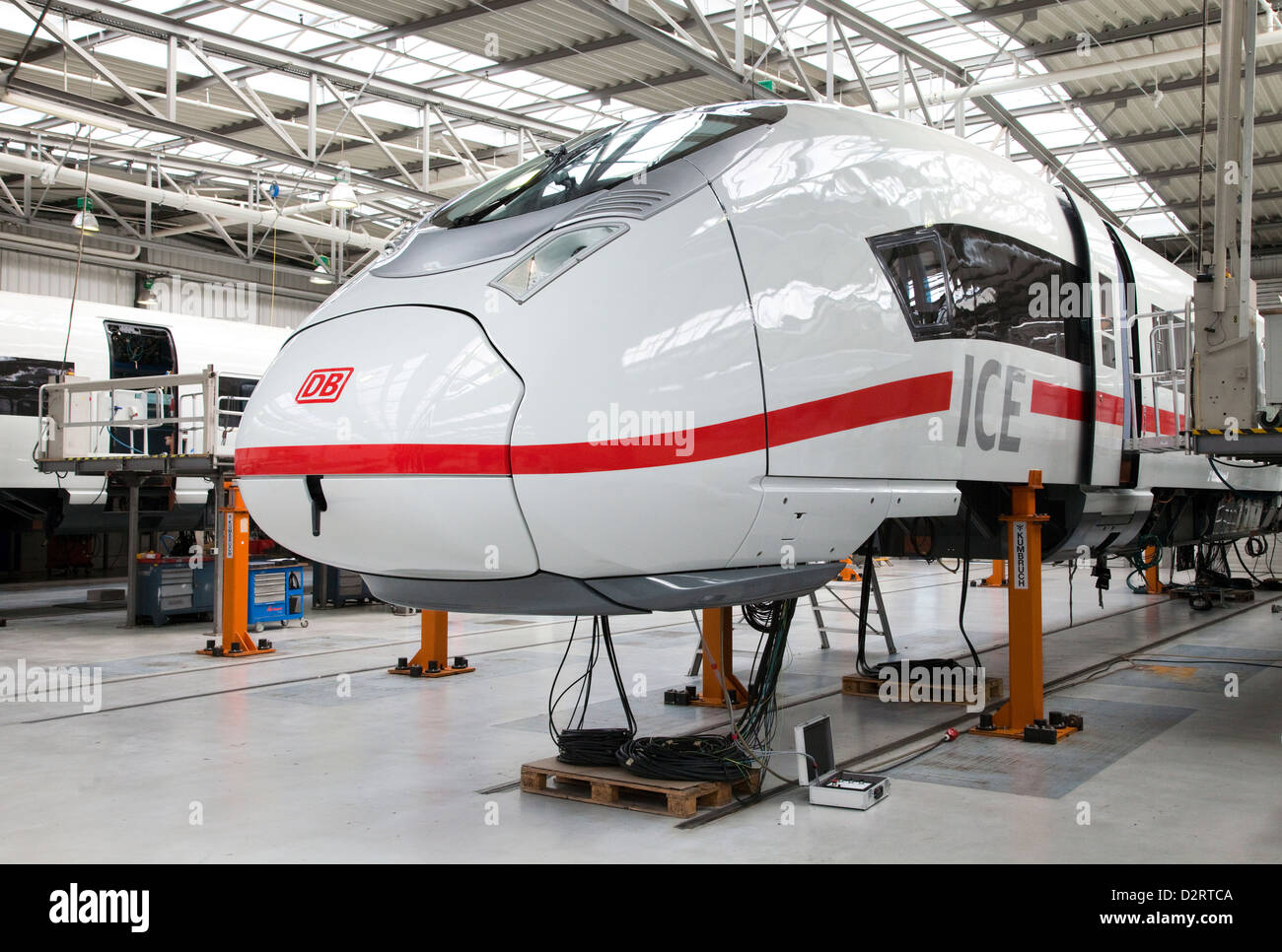 Krefeld, Germany, Siemens Mobility, final assembly of the new ICE 3 - Stock Image
