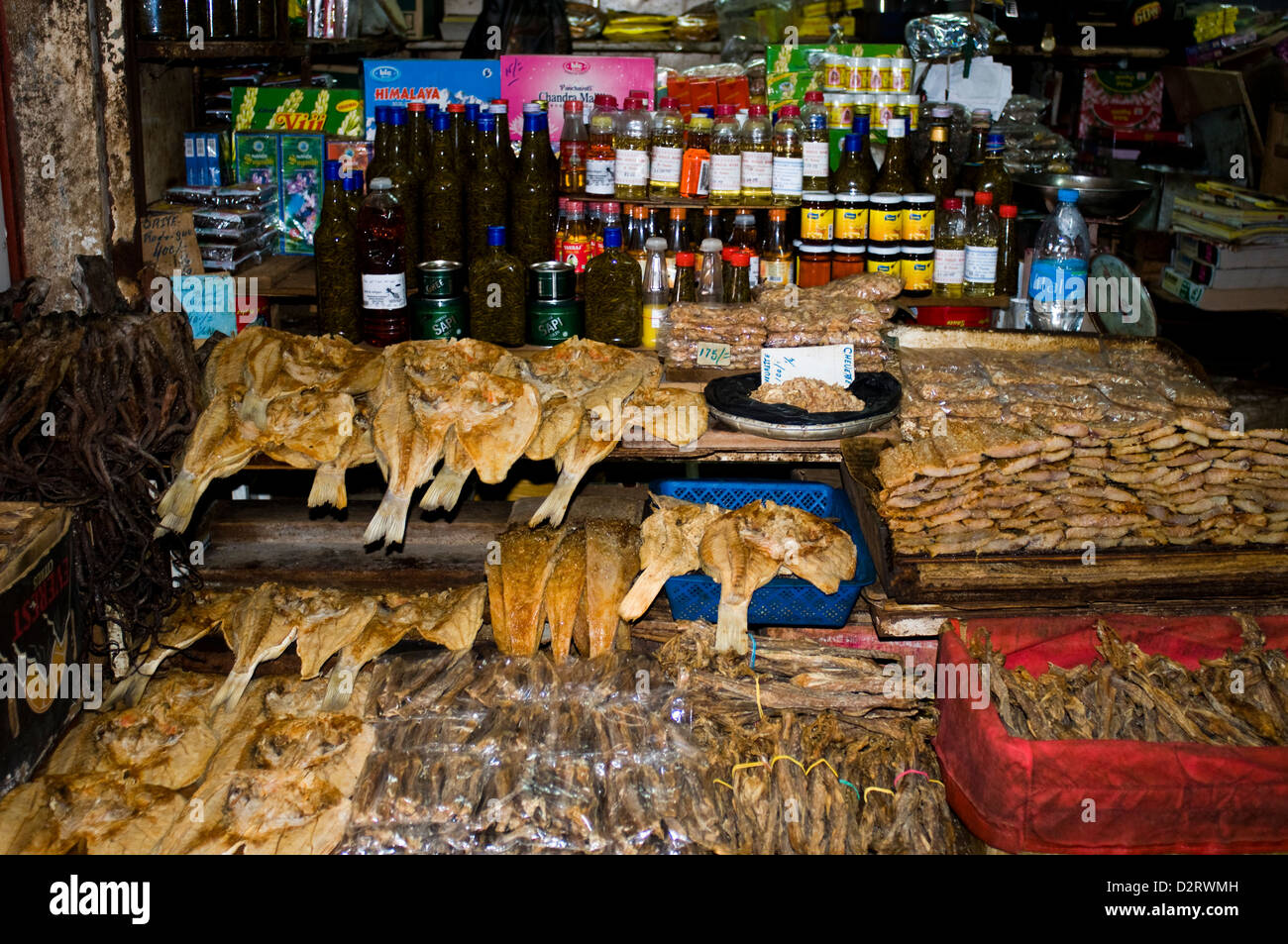 central market spice stall, port louis, mauritius Stock Photo