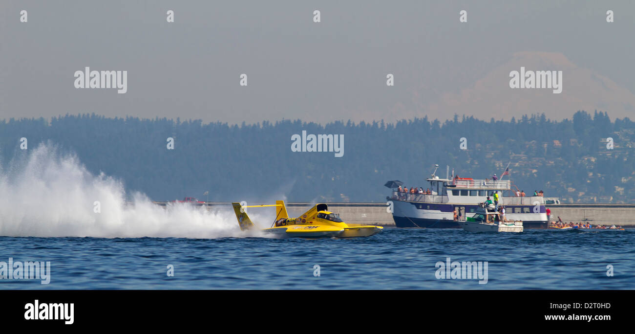 WA, Seattle, Seafair, Unlimited Hydroplane Races, Lake