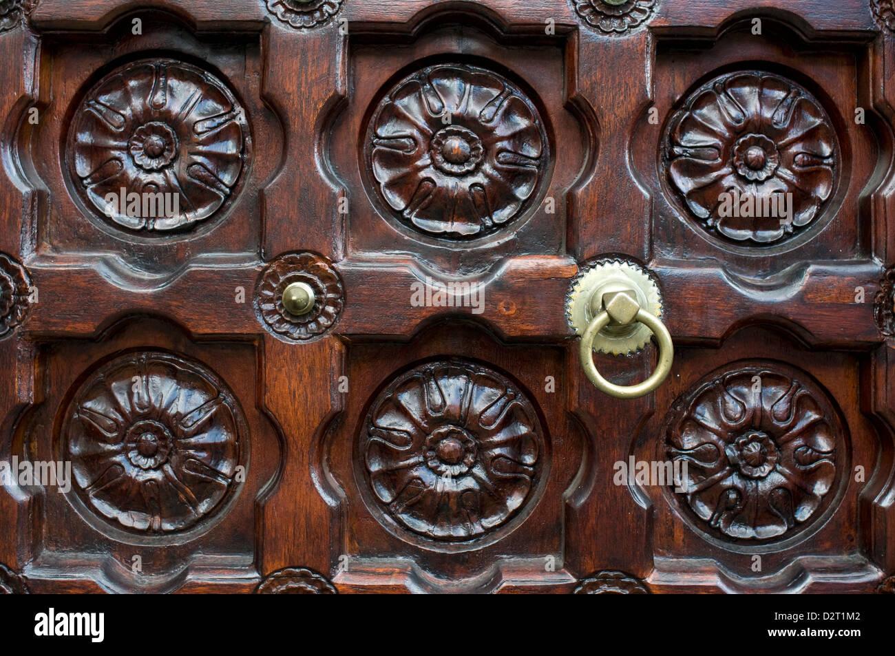 door, jummah mosque, port louis, mauritius Stock Photo
