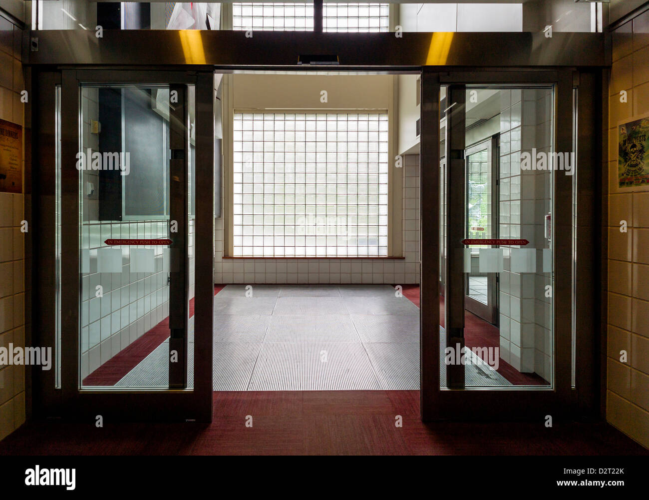 Glass Door Entrance And Glass Block Wall Stock Photos Glass Door