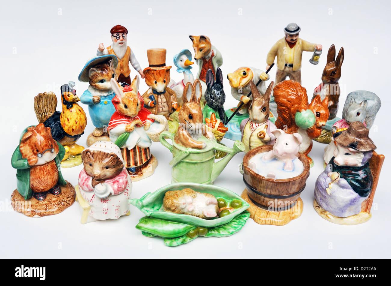 Beatrix Potter Peter Rabbit Royal Doulton figurines Stock Photo
