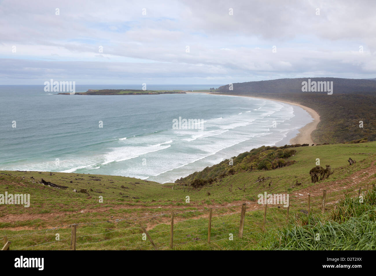 Florence Hill Lookout, Southern Island,New Zealand - Stock Image