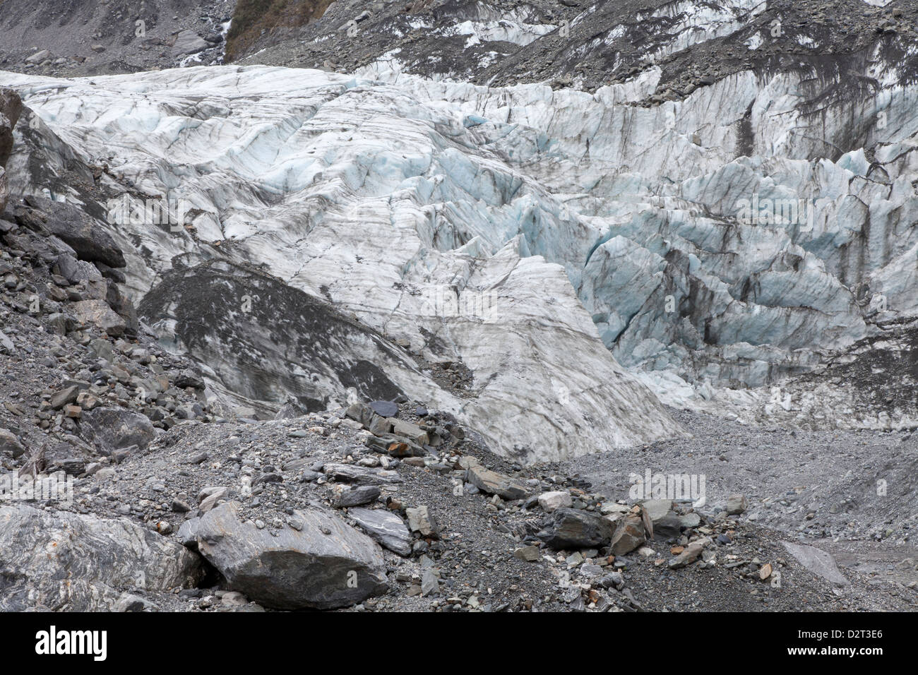 Fox Glacier, Southern Island, New Zealand - Stock Image