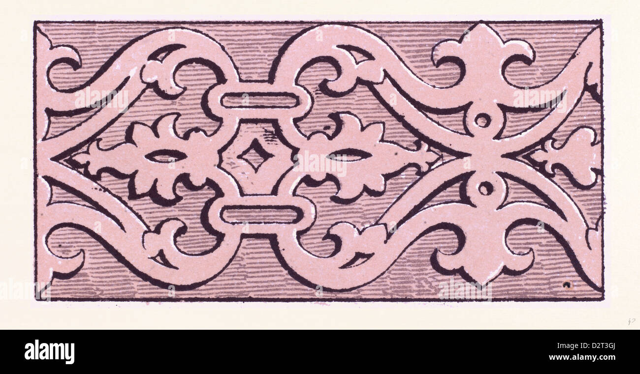 Elizabethan ornament - Stock Image
